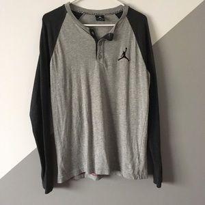 Nike Jordan M Raglan Henley Tshirt